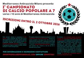 Milano, I Campionato di calcio popolare verso il Mediterraneo Antirazzista
